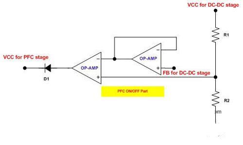 建议使用一种简单的辅助电路,将pfc的工作与准谐振反激dc-dc转换器